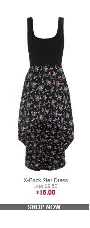X-Back 2fer Dress