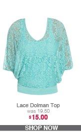Lace Dolman Top