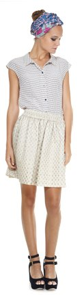 Marc by Marc Jacobs | Romy Dot Jacquard Skirt