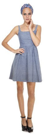 Marc by Marc Jacobs | Dotty Chambray Dress