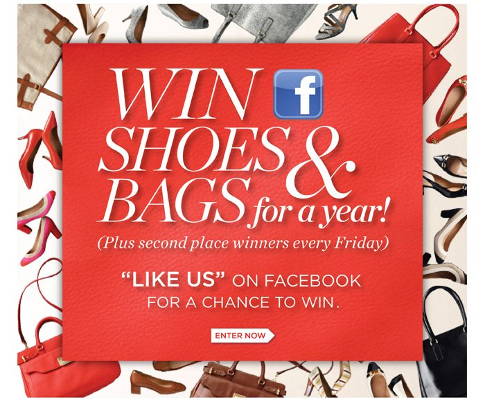 Win Shoes and Bags for a year! (Plus second place winners every Friday)
