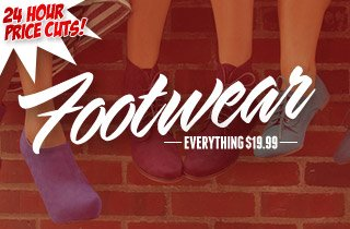 Temporary Price Cut: Footwear $19.99