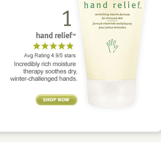 hand relief. shop now.