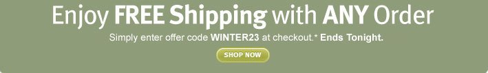 Enjoy FREE Shipping with ANY  Order. shop now.