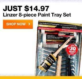 Linzer 8-piece Paint Tray Set