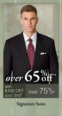 Signature Suits - Over 65% off*