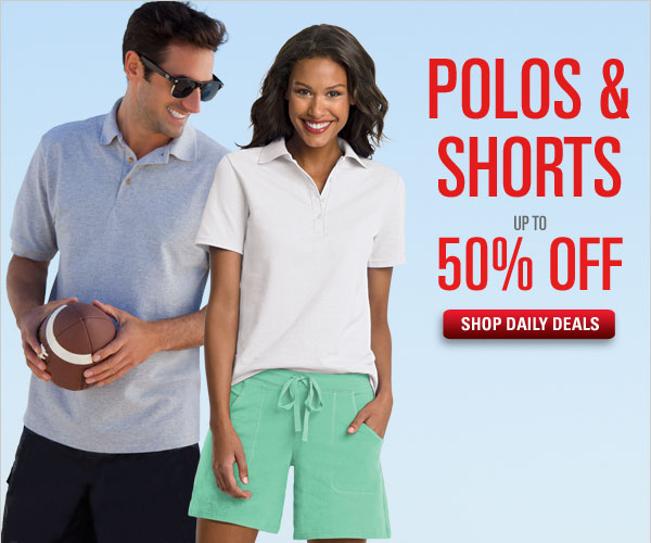 Polos & Shorts up to 50% off