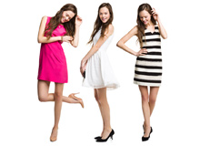 Pattern Play Striped & Solid Spring Dresses