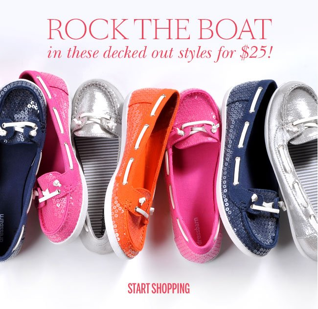 Rock the boat in these decked out styles for $25!