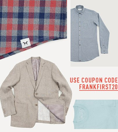 Use Coupon Code FRANKFIRST20