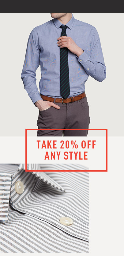 Take 20% Off ANY Style