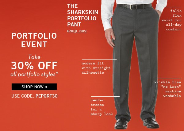 Take 30% Off Portfolio Styles + Shop Our Best-Selling Pant