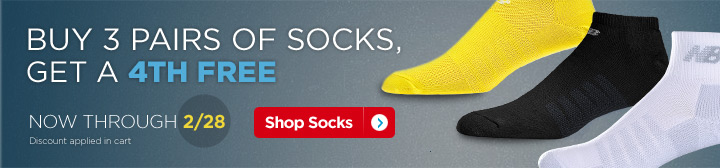 Buy 3 Pairs of Socks and Get a 4th FREE.