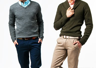 Shop Spring Layers: Sweater & Chino Pairs