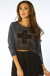 The Mystic Spirit Jacquard Sweater in Eclipse