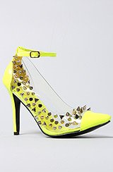 The Beverly Shoe in Neon Yellow