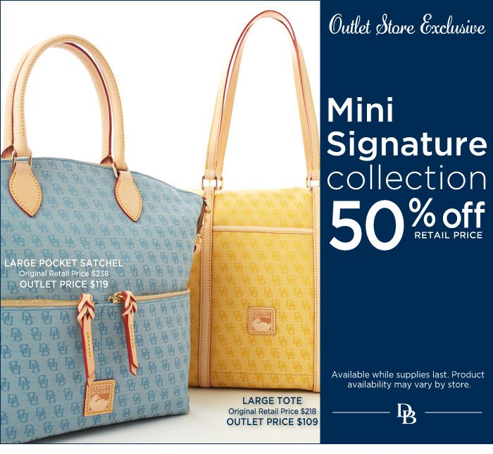 Outlet Exclusive - Mini Signature Collection 50% off retail price