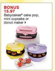 BONUS 15.97 Babycakes® cake pop, mini  cupcake or donut maker