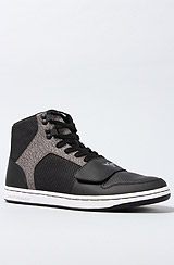 The Cesario Sneaker in Black & Elephant