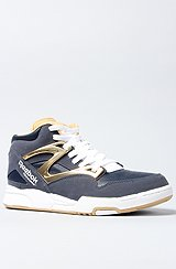 The Pump Omni Lite Sneaker in Athletic Navy, RBK Brass, & White