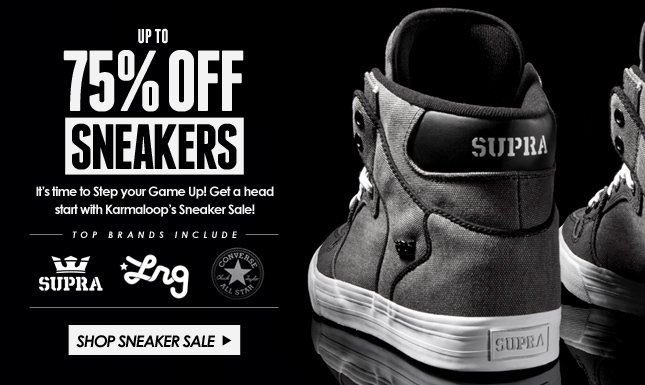 Up to 75% Off Sneakers on Kl! Step your game up Today!