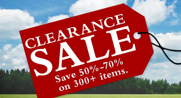 Save 50%-70%  on 300+ items.