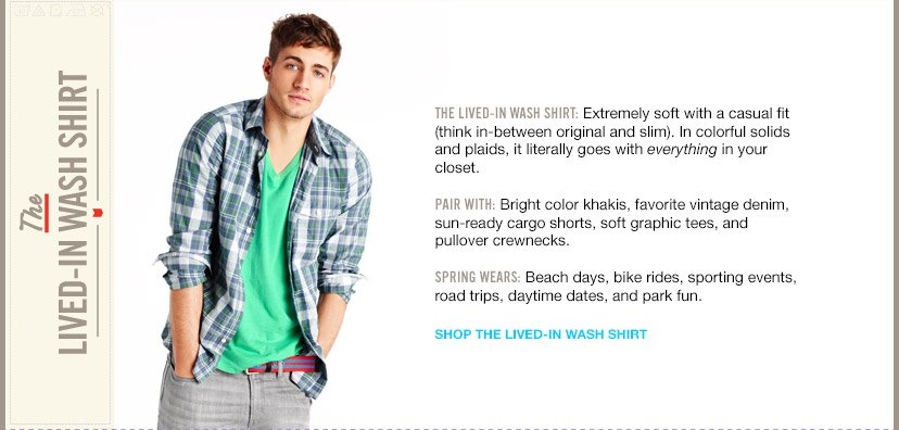 SHOP THE LIVED-IN WASH SHIRT