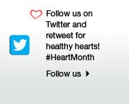 Follow us on twitter and retweet for healthy hearts! #HeartMonth  Follow us.
