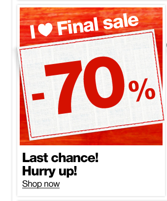 Last chance! Hurry up!