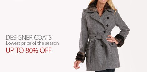 Designer Coats Lowest price of the season