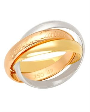 Les Must De Cartier 18K Gold Trinity Ring