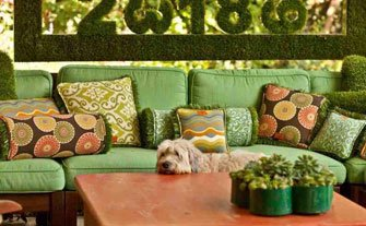 Spring Green: Outdoor Pillows - Visit Event