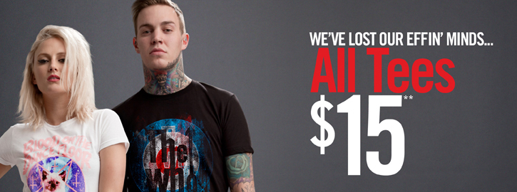 WE'VE LOST OUR EFFIN' MINDS... ALL TEES $15**