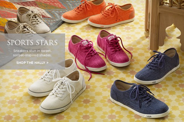 Sports Stars - Sneakers stun in sweet, sorbet-inspired shades. - Shop the Halley >