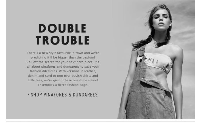 DOUBLE TROUBLE - Shop Pinafores & Dungarees
