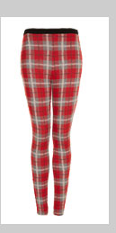 Red Check Treggings