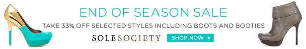 Shop Sole Society's End of Season Sale Now