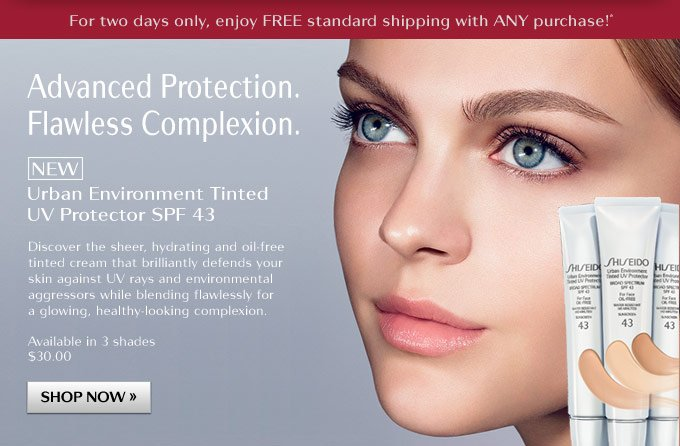 Shiseido: NEW Tinted UV Protector + Free Shipping Offer | Milled