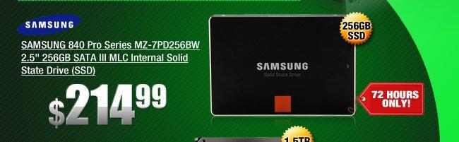 SAMSUNG 840 Pro Series MZ-7PD256BW 2.5 inch 256GB SATA III MLC Internal Solid State Drive
