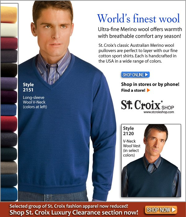 Classic Wool V-Neck Pullover - Style 2151