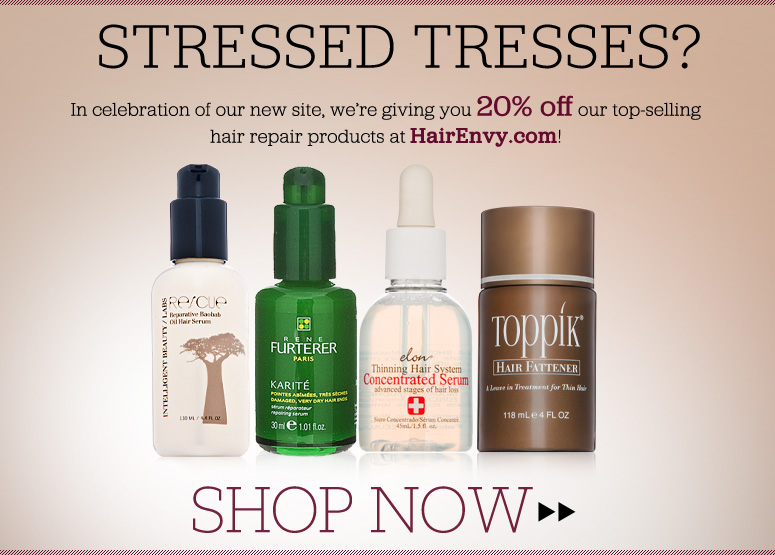 Stressed Tresses? Watch this video to see which hair products give the best at-home results! Plus, enjoy 20% off on select hair-repairing products at HairEnvy.com! Shop Now>>