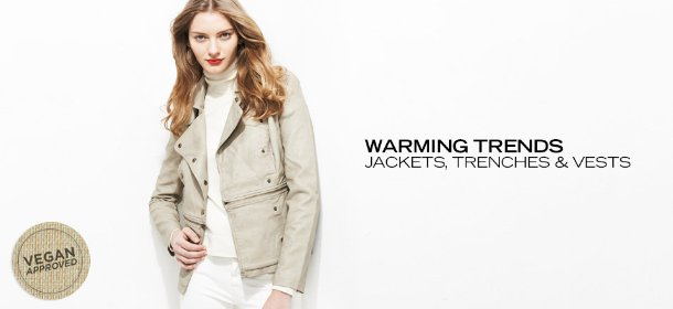 WARMING TRENDS: JACKETS, TRENCHES & VESTS, Event Ends February 26, 9:00 AM PT >