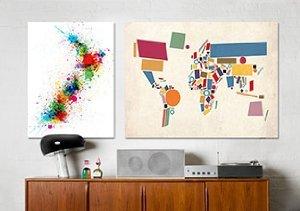 Map Art by Michael Tompsett