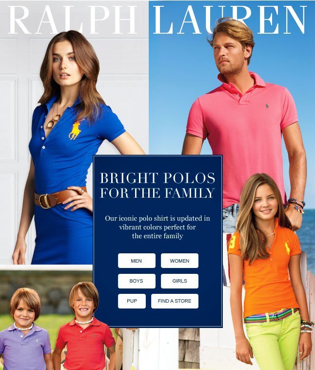Bright Polos For The Family