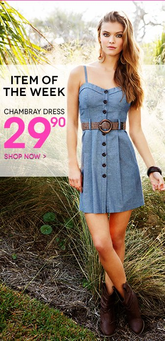 Item of the Week: Belted Chambray Dress $29.90 - Shop New Spring Dresses