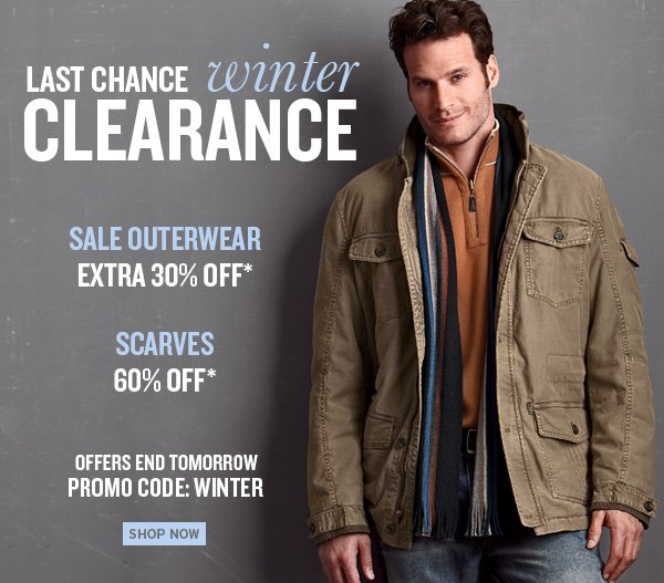 Last Chance Winter Clearance