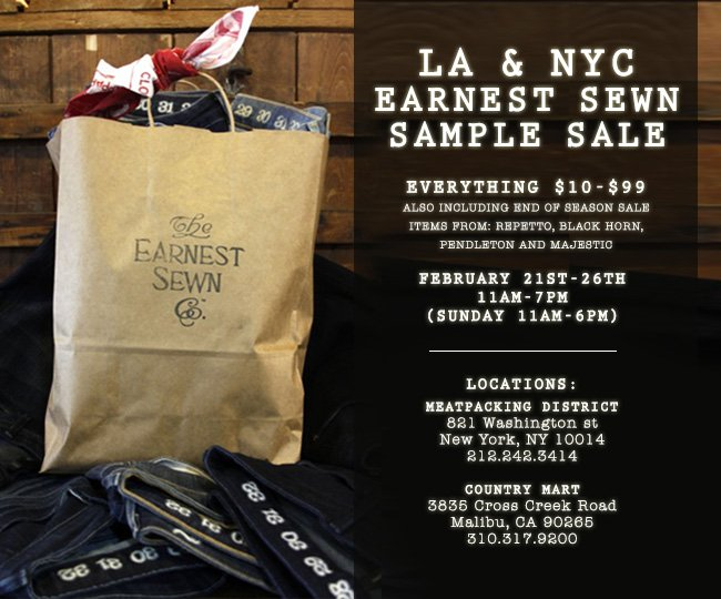 NYC + Malibu Sample Sale