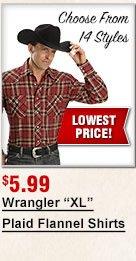 Wrangler XL shirts