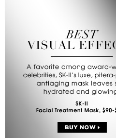 BEST VISUAL EFFECTS. A favorite among award-winning celebrities, SK-II's luxe, pitera-packed antiaging mask leaves skin hydrated and glowing. ships for free. SK-II Facial Treatment Mask, $90-$125