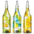 Harlequin Bottle Tea Light Holders